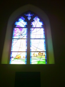 Stained Glass Memorial Window at St Mary's Church, Staines