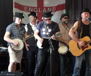 Folk, Blues 'n' Country outfit MOONSHINE ... One of several bands performing on STAINES UPON THAMES day ...